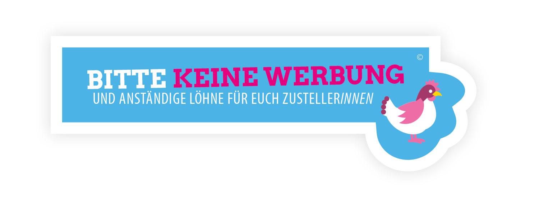 Free Stickers, Huhn, blue