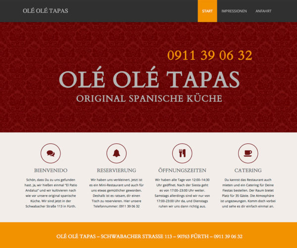 WordPress: Restaurant